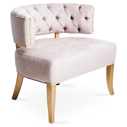 Babette Accent Chair, Lilac Chenille