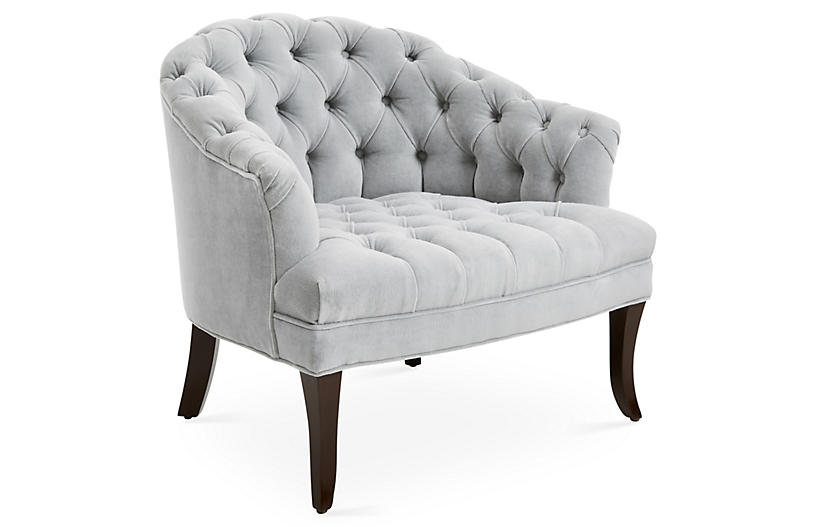 Swoon Accent Chair, Cannon Gray