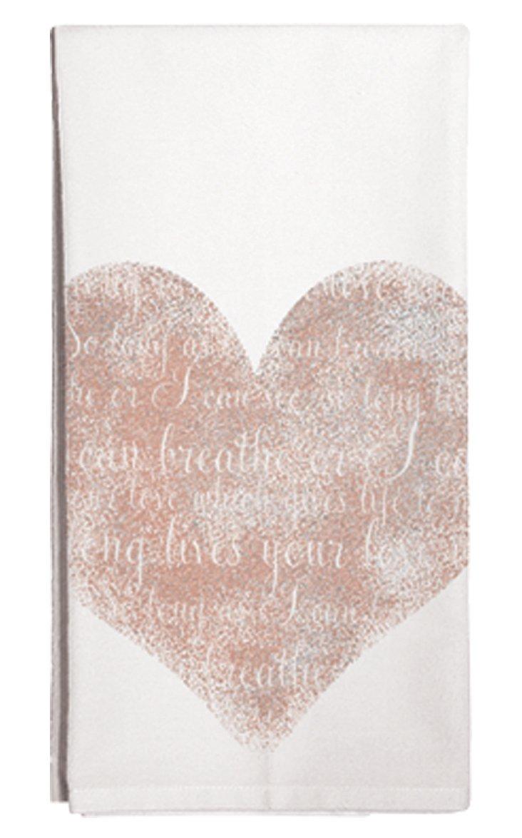 S/3 Heart Tea Towels