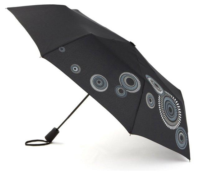Travel Lite Umbrella, Pinwheel Black