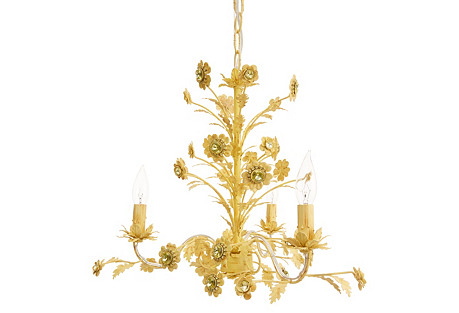 Lulu Chandelier, Yellow