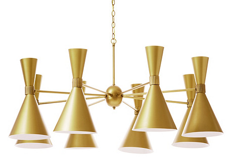 Verona 16-Light Chandelier, Brass