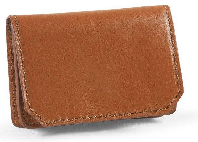 Leather Card Case, Tan