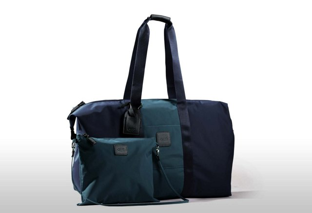 Brics Folding Duffel Bag, Blue