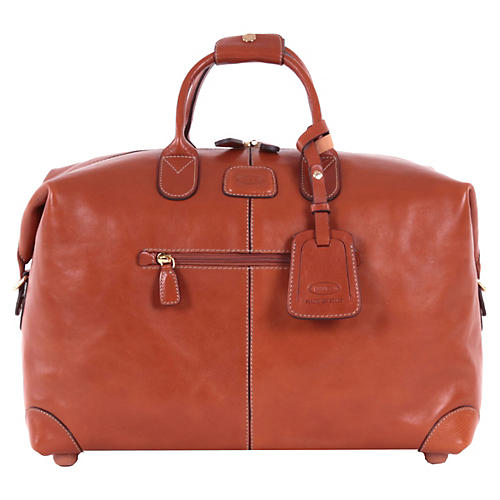 """18"""" Life Duffel, Brown Leather"""