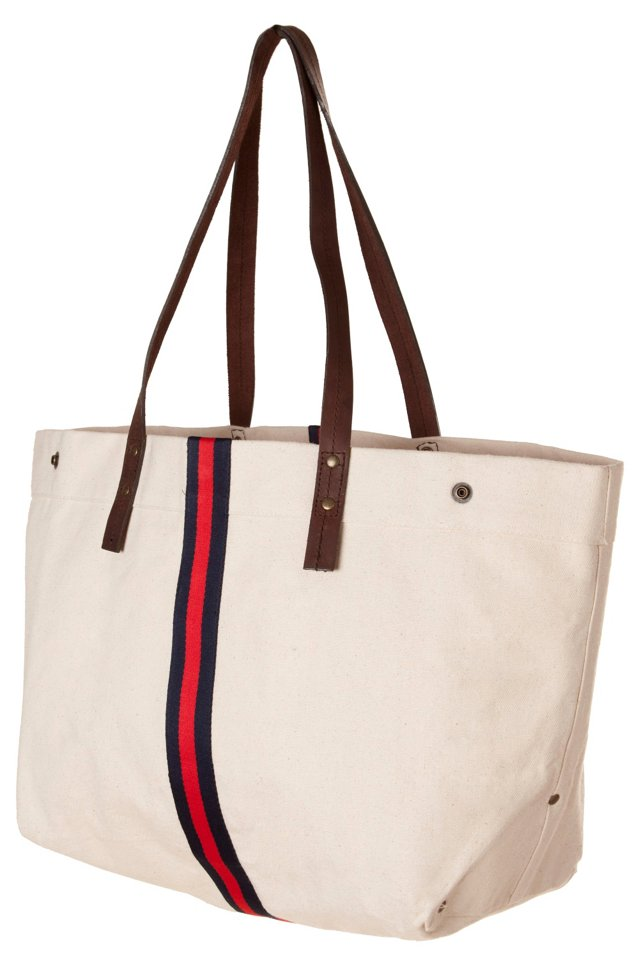 Chelsea Tote, Navy/Red