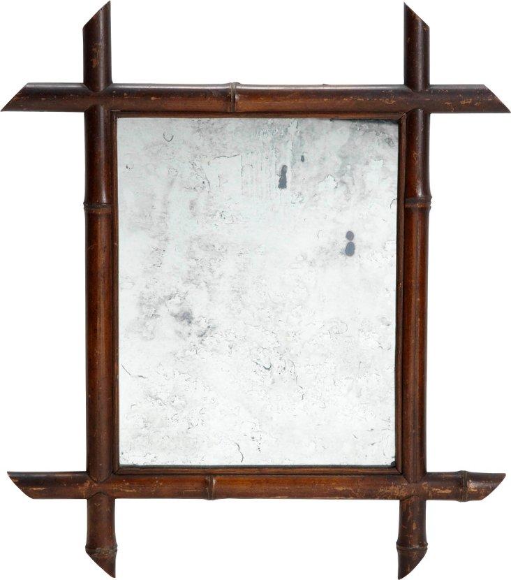 Antique Petite Bamboo Mirror