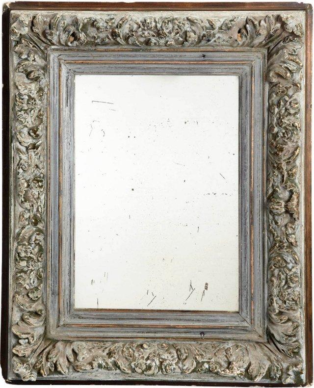 Ornate Gray Framed Mirror
