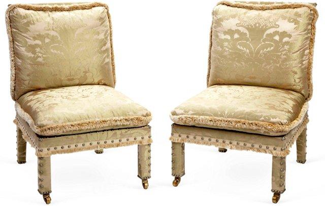 Boudoir Chairs, Pair