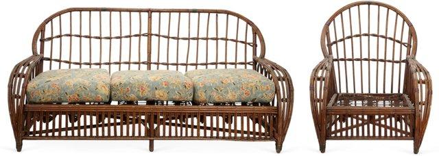 Vintage Wicker Chair & Sofa