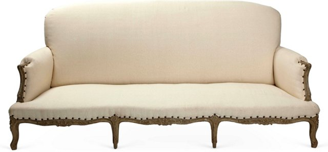 French-Style Upholstered Sofa