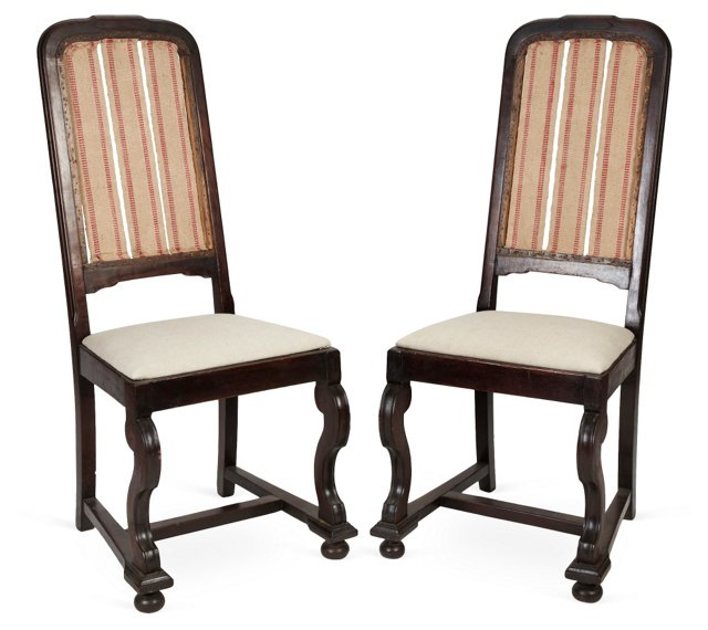 William & Mary-Style Chairs, Pair