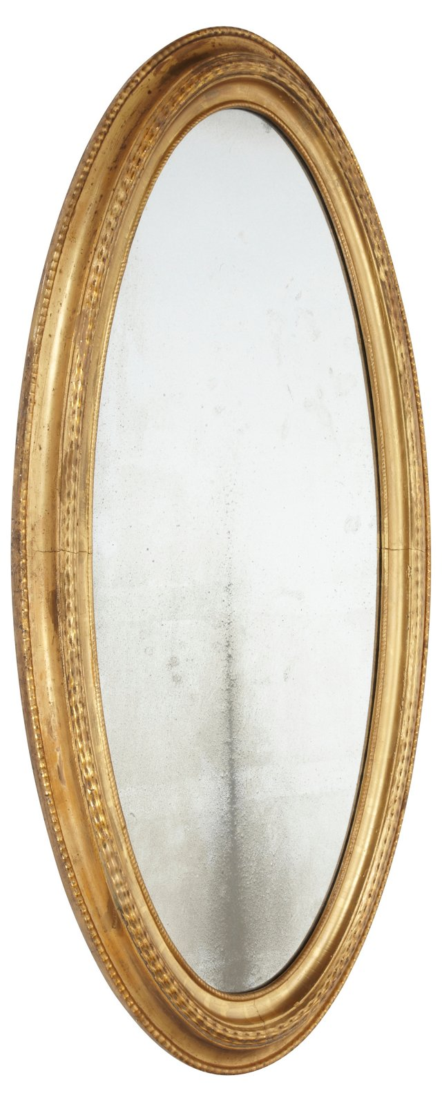 Antique Oval Gilded Mirror