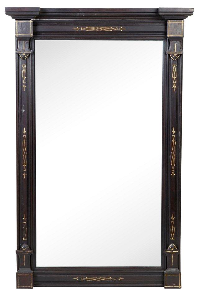 Vintage Black Renaissance-Style Mirror