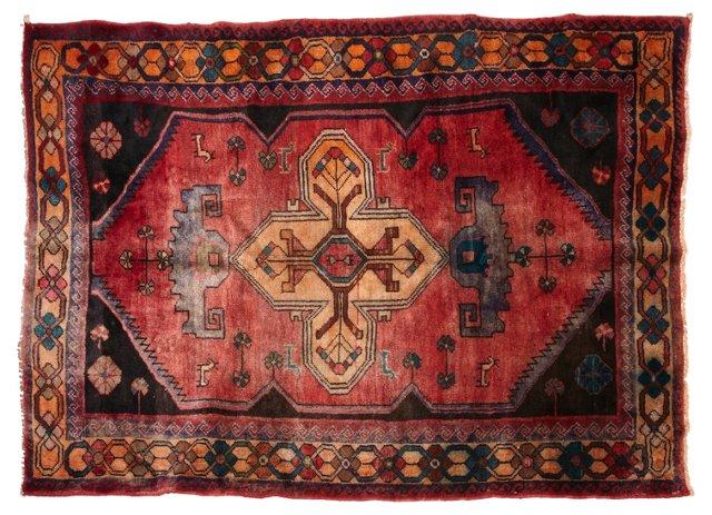 """Antique Persian Heriz Rug, 6'6"""" x 4'11"""""""