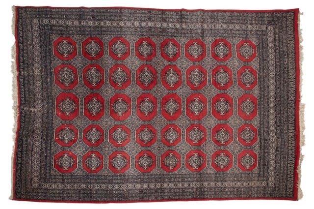 Vintage Bokhara Rug, 9' x 6'