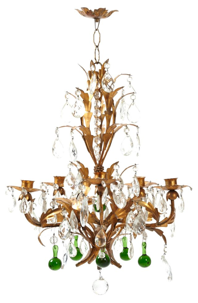 Crystal & Brass Candle Chandelier