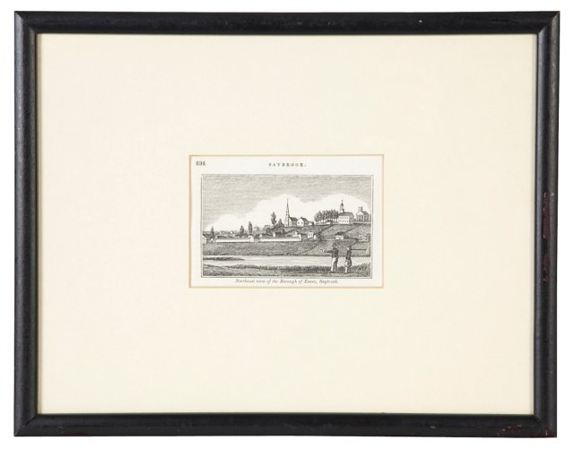 Vintage Print of Saybrook, Connecticut