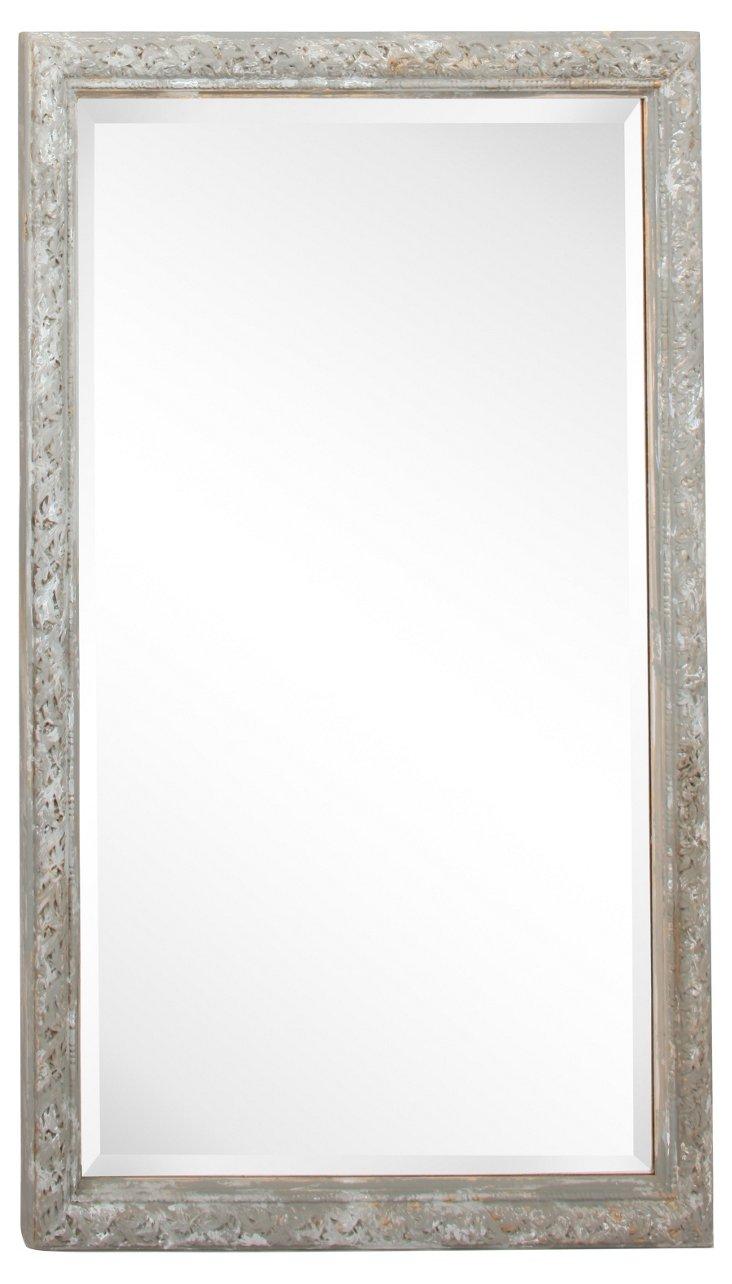 Gray Beveled Mirror