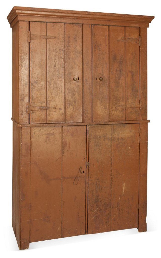 19th-C. English Country Cupboard