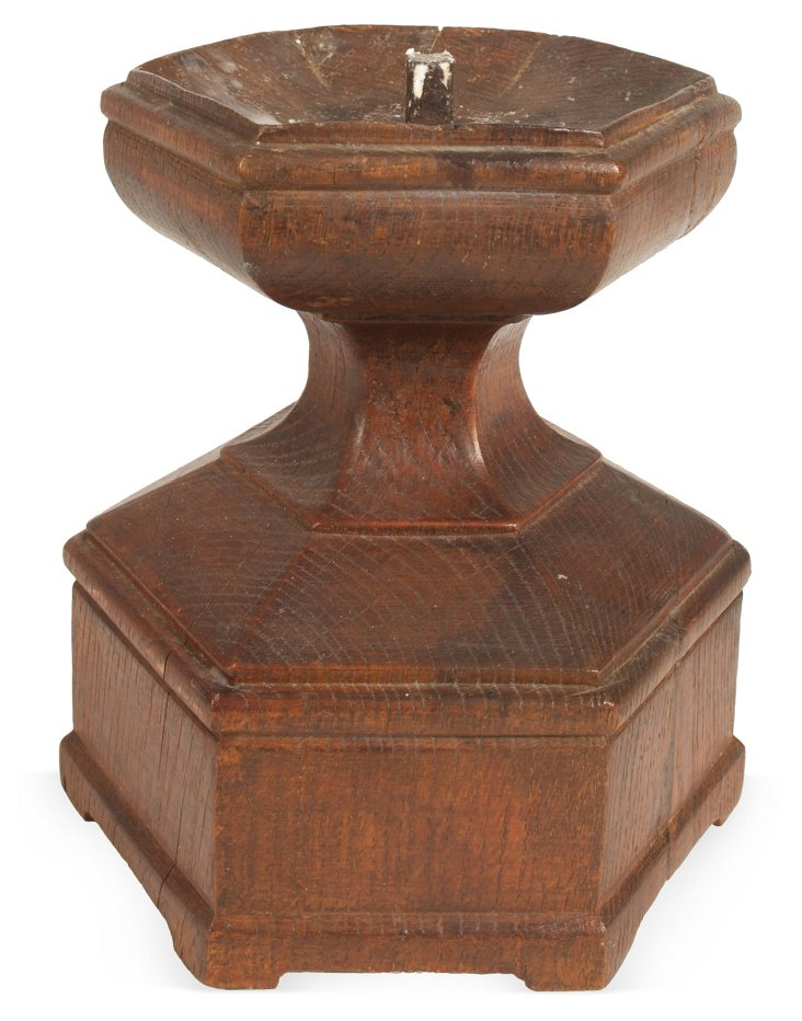 18th-C. Hexagonal Pricket Candlestick