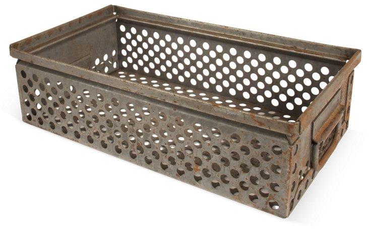 Vintage Pierced Steel Tray