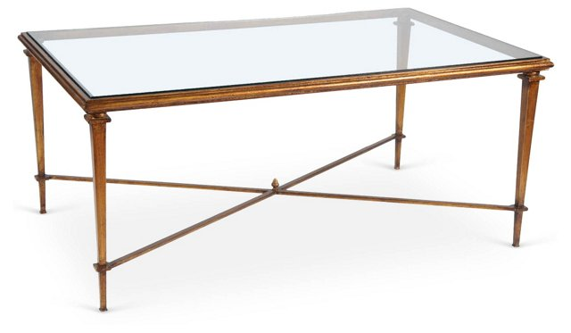 Neoclassical-Style Bronze Coffee Table