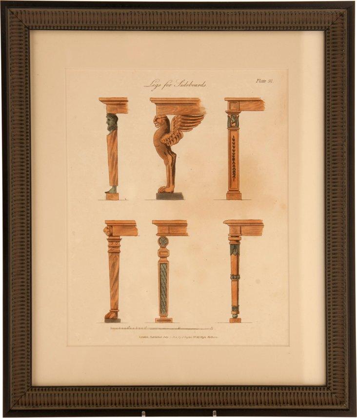 Smith Engraving, Sideboard Legs