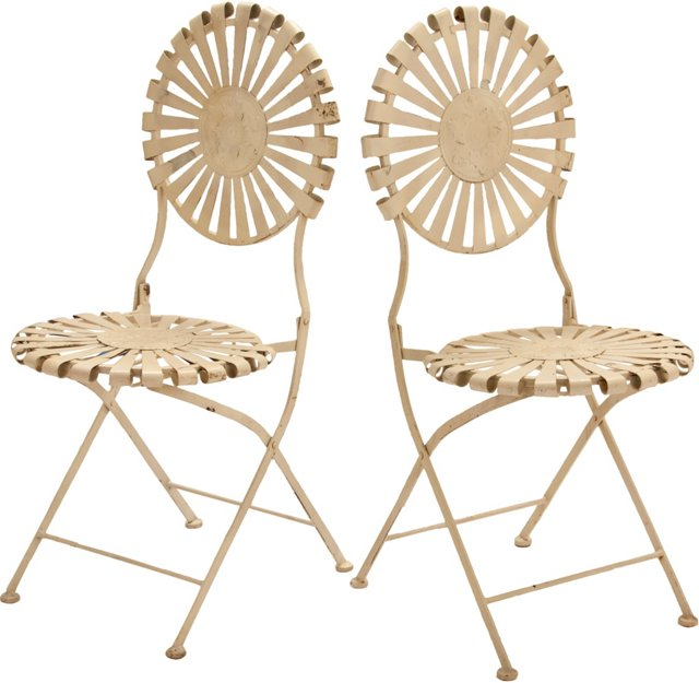 Garden Chairs, Pair