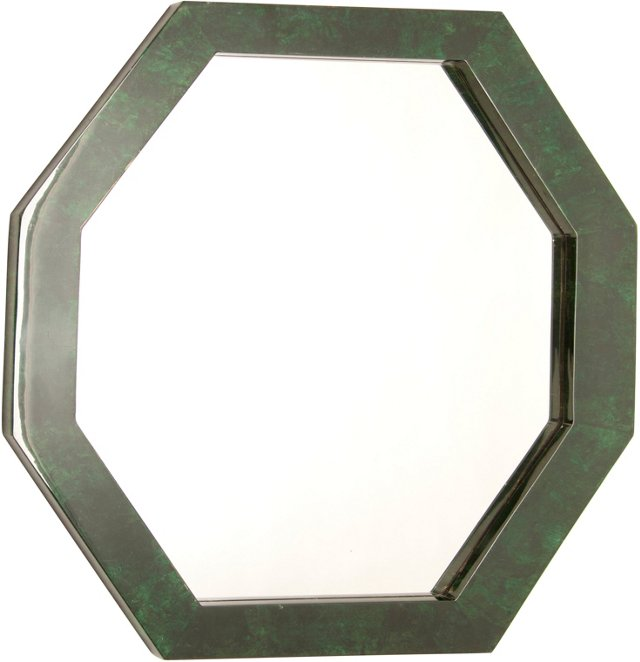 Green Parchment Mirror