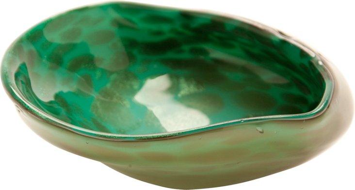 Blue-Green Murano Dish