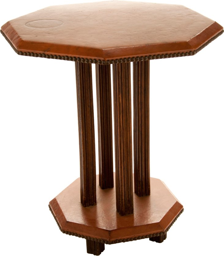 French Leather-Top Table
