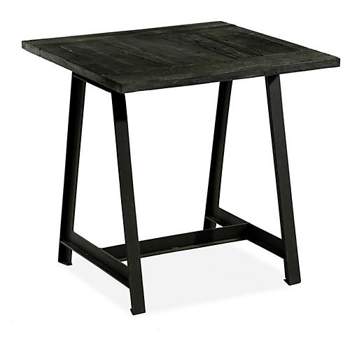 """Billings 26"""" Square Side Table, Charcoal"""