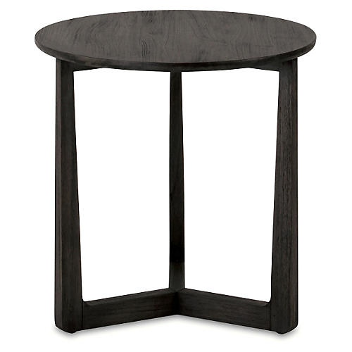 """Messina 20"""" Round Side Table, Brown"""