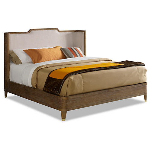 Henley Upholstered Bed, Natural