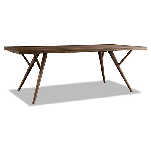 "Kiera 84"" Dining Table, Sepia"