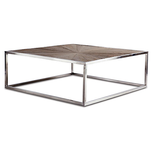 Piedmont Coffee Table, Weathered Natural