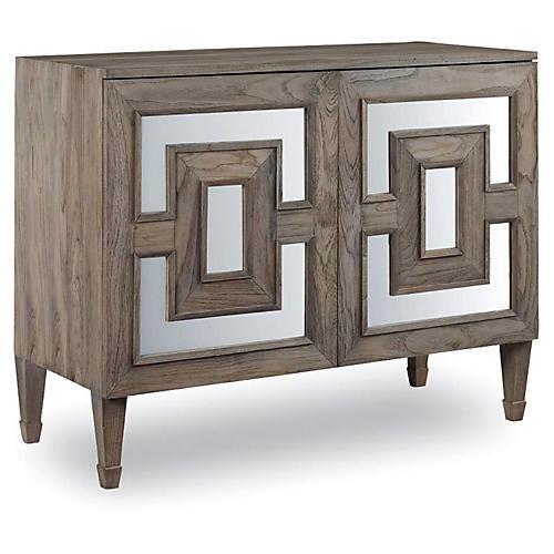 Alfie Mirrored Dresser, Driftwood