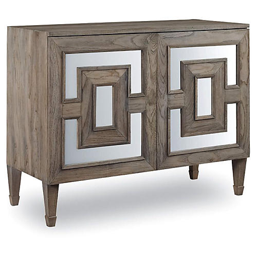 Alfie Mirrored Sideboard, Driftwood