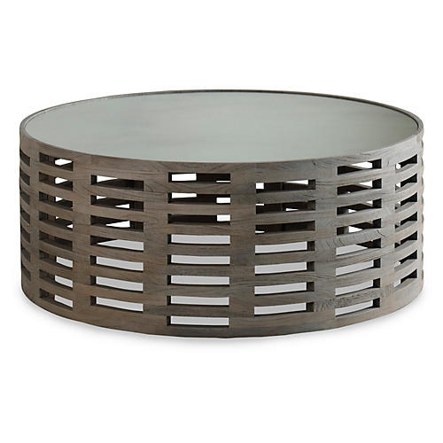 alfie round coffee table mirrored