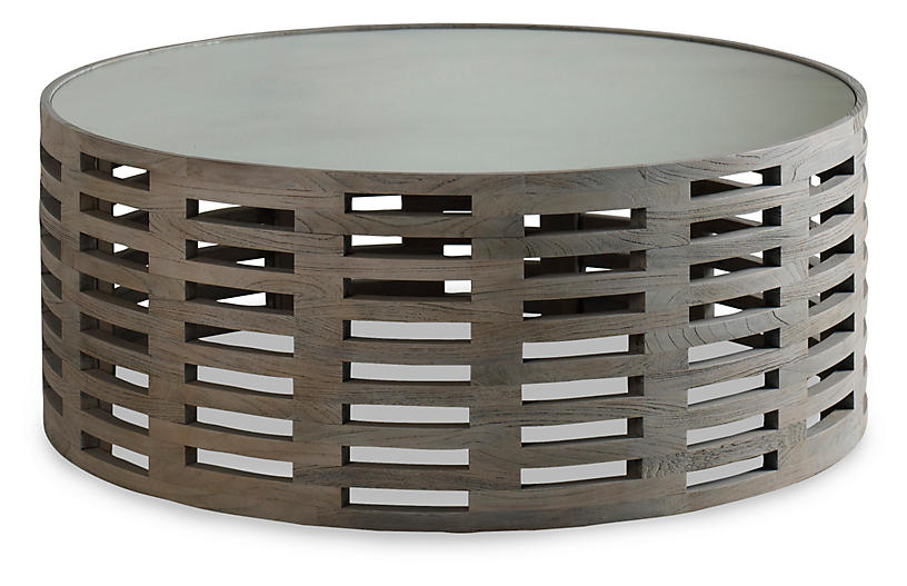 Palmer Round Coffee Table, Driftwood