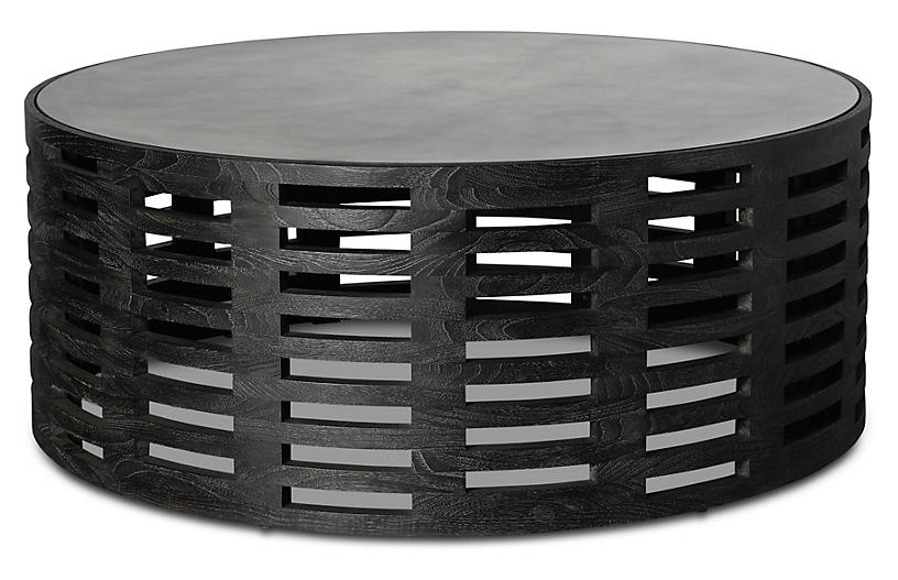 Palmer Round Coffee Table, Mink