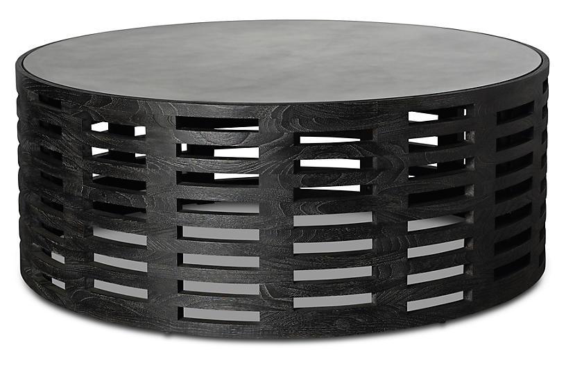 Palmer Round Coffee Table, Mink