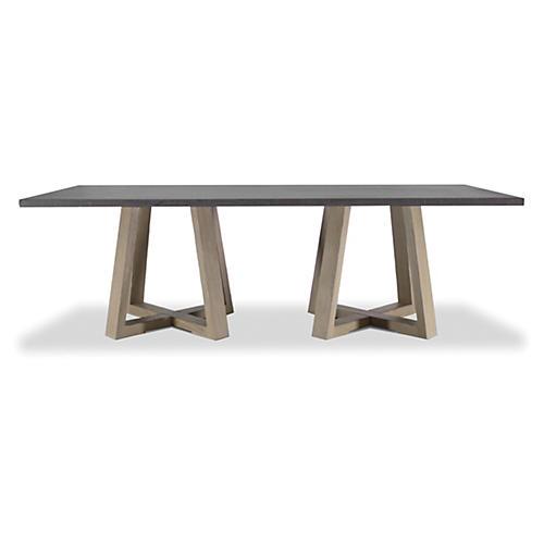 """Brigham 94"""" Dining Table, Smoke"""