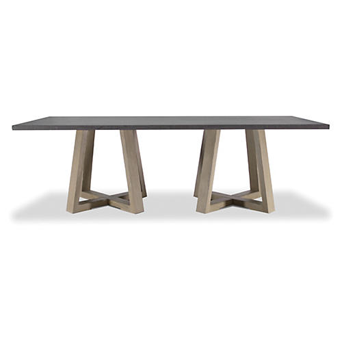 "Brigham 94"" Dining Table, Smoke"