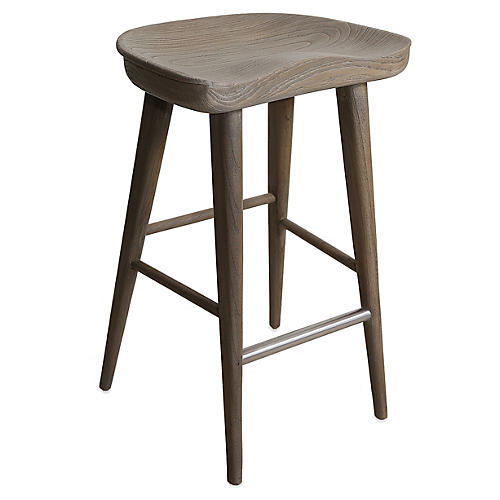 Louise Counter Stool, Driftwood