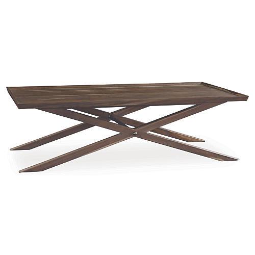 Elizabeth X-Base Coffee Table, Sepia