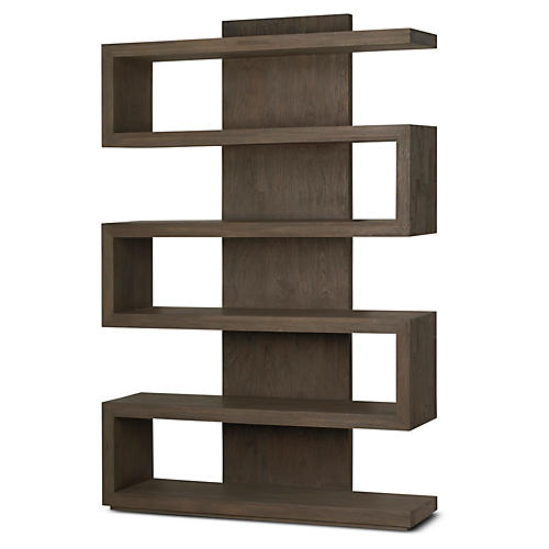 "Piper 71"" Bookcase, Chestnut"