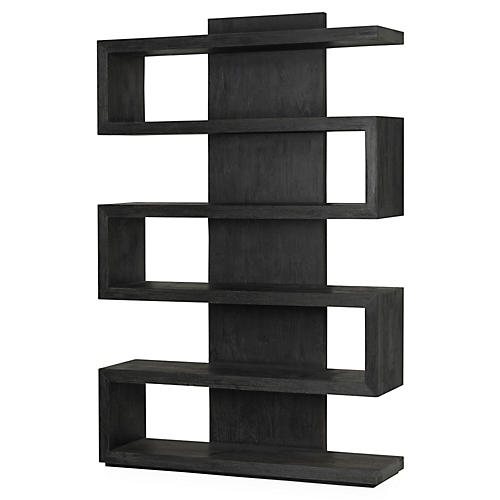"Piper 71"" Bookcase, Mink"
