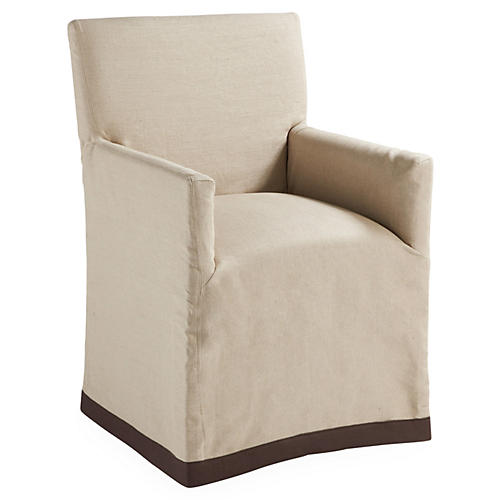 Keagan Slipcover Chair, Khaki